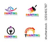 painting logo template design... | Shutterstock .eps vector #1201401787