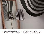 black and white interior. the...   Shutterstock . vector #1201405777