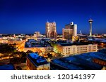 san antonio downtown just after ... | Shutterstock . vector #120141397