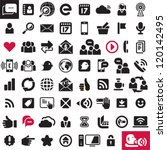 Communication icons. Web icons set. Internet icons collection.