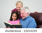 grandfather and grandmother... | Shutterstock . vector #12014254