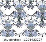 seamless watercolor pattern in... | Shutterstock . vector #1201433227