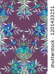 seamless watercolor pattern in... | Shutterstock . vector #1201433251