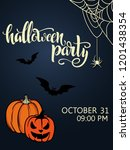 halloween party poster.... | Shutterstock .eps vector #1201438354