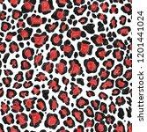 leopard pattern.silk scarf.for... | Shutterstock . vector #1201441024