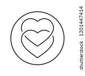 hearts that are interlocked | Shutterstock .eps vector #1201447414