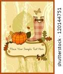 autumn invitation | Shutterstock .eps vector #120144751