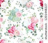 seamless vector design pattern. ... | Shutterstock .eps vector #1201448227
