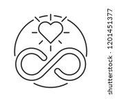 eternity symbol and heart | Shutterstock .eps vector #1201451377
