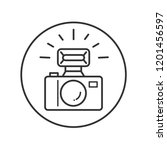 camera with flash | Shutterstock .eps vector #1201456597
