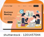 web page design templates for... | Shutterstock .eps vector #1201457044