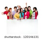 happy young group of people... | Shutterstock . vector #120146131