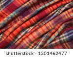 pile of scarf stripy texture ...   Shutterstock . vector #1201462477