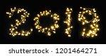 2019 fantasy light font | Shutterstock . vector #1201464271