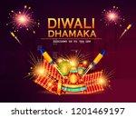 diwali dhamaka sale  poster ... | Shutterstock .eps vector #1201469197