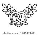 pretzel wheat leaves food... | Shutterstock .eps vector #1201471441