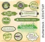 set of organic labels set | Shutterstock .eps vector #120147169