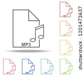 mp3 file icon. elements of web...