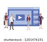 people workplace activity | Shutterstock .eps vector #1201476151