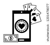 cellphone banknote application... | Shutterstock .eps vector #1201478077