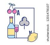ace card poker bottle casino... | Shutterstock .eps vector #1201478107