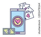 cellphone banknote application... | Shutterstock .eps vector #1201478164