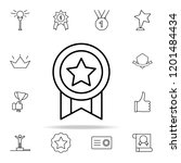 medal icon. succes and awards...   Shutterstock . vector #1201484434