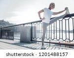 it is my hobby. healthy blonde...   Shutterstock . vector #1201488157