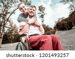 feeling support. cheerful... | Shutterstock . vector #1201493257