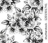 flower print in bright colors.... | Shutterstock .eps vector #1201501741