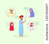 illustration arabian teen on... | Shutterstock .eps vector #1201503697