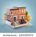 unusual 3d illustration of... | Shutterstock . vector #1201505374