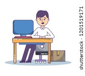 businessman and office | Shutterstock .eps vector #1201519171