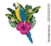 exotic and tropical bird | Shutterstock .eps vector #1201521514