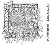 adult coloring page with... | Shutterstock .eps vector #1201526167