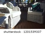 tropical furniture on deck | Shutterstock . vector #1201539337