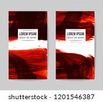 set of vector business card... | Shutterstock .eps vector #1201546387