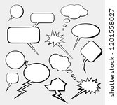 clouds of dialogs for comics... | Shutterstock .eps vector #1201558027
