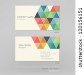 business card abstract... | Shutterstock .eps vector #120156151