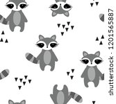 cute seamless pattern with... | Shutterstock .eps vector #1201565887
