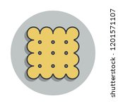 biscuit icon in badge style....