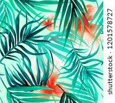 tropical seamless pattern   Shutterstock . vector #1201578727