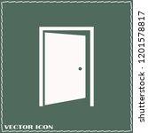 emergency exit sign  exit door... | Shutterstock .eps vector #1201578817