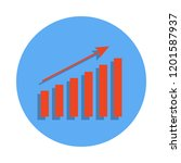 growth chart colored icon in...