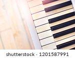 retro piano keys background... | Shutterstock . vector #1201587991