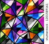 seamless background pattern.... | Shutterstock .eps vector #1201589161