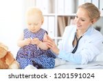 doctor and patient in hospital. ...   Shutterstock . vector #1201591024