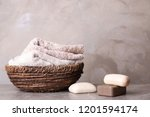 Different Soap Bars And Basket...