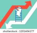 arab businessman climbing... | Shutterstock .eps vector #1201606177