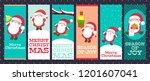 set of vertical christmas...   Shutterstock .eps vector #1201607041